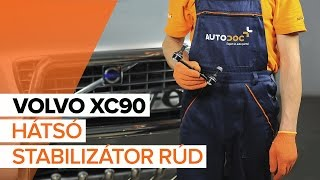 VOLVO XC90 Axiális Csukló Vezetőkar beszerelése: videó útmutató