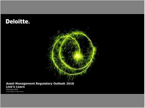Link'n Learn - Asset Management Regulatory Landscape For 2018