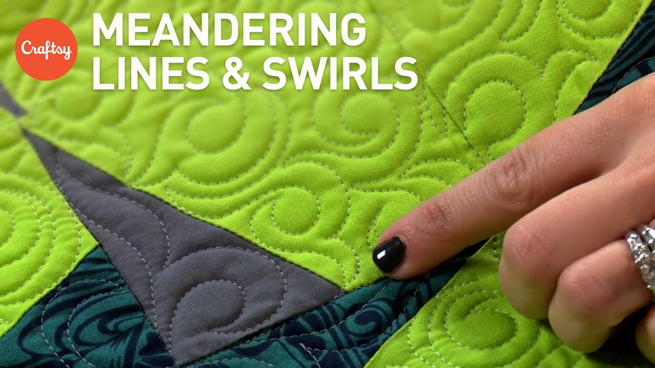 Meandering Quilting Lines Swirls For Backgrounds Borders Fmq
