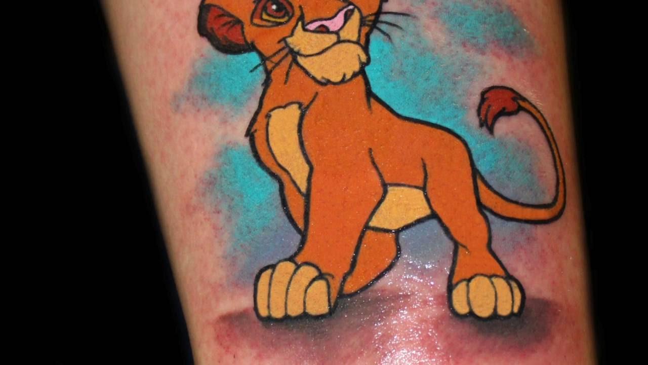 Chris 51 Tattoos Simba Lion King Time Lapse Youtube