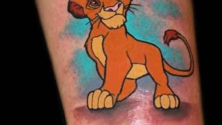 Chris 51 Tattoos Simba Lion King time-lapse
