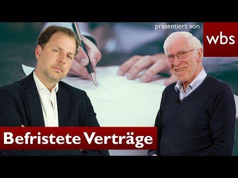 Dürfen Arbeitsverträge ohne Grund befristet werden? | RA Solmecke und Wolfgang Büser