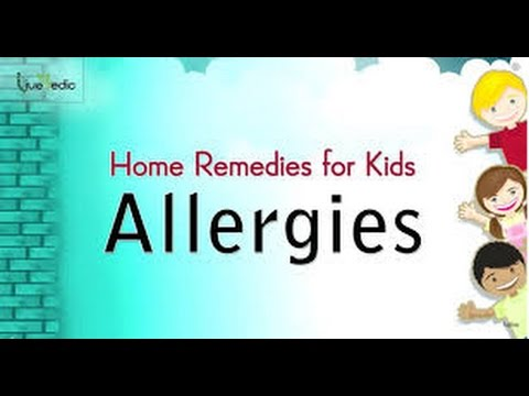 Natural Home Remedies for Allergies for kids