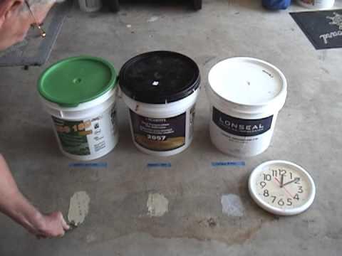 Assorted Floor Adhesives Testing