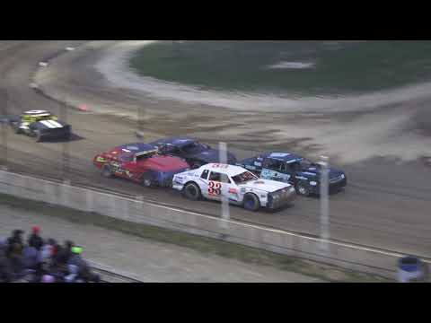 Street Stock Heat Race #1 at Crystal Motor Speedway, Michigan on 08-31-2019!