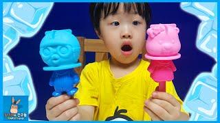 뽀로로 아이스바 아이스크림 만들기 챌린지! 뽀로로 루피 에디 승자는? ♡ 뽀로로 장난감 놀이 Pororo ice cream maker | 말이야와친구들 MariAndFriends