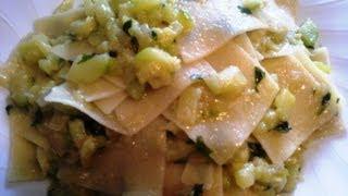 Италия.Паста с цуккини (zucchine).Итальянская кухня
