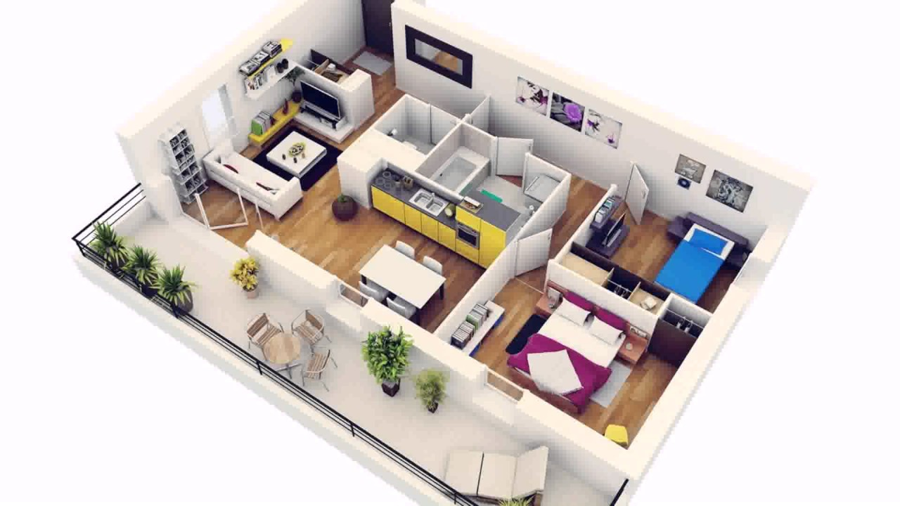 2 Bedroom House Plan For India