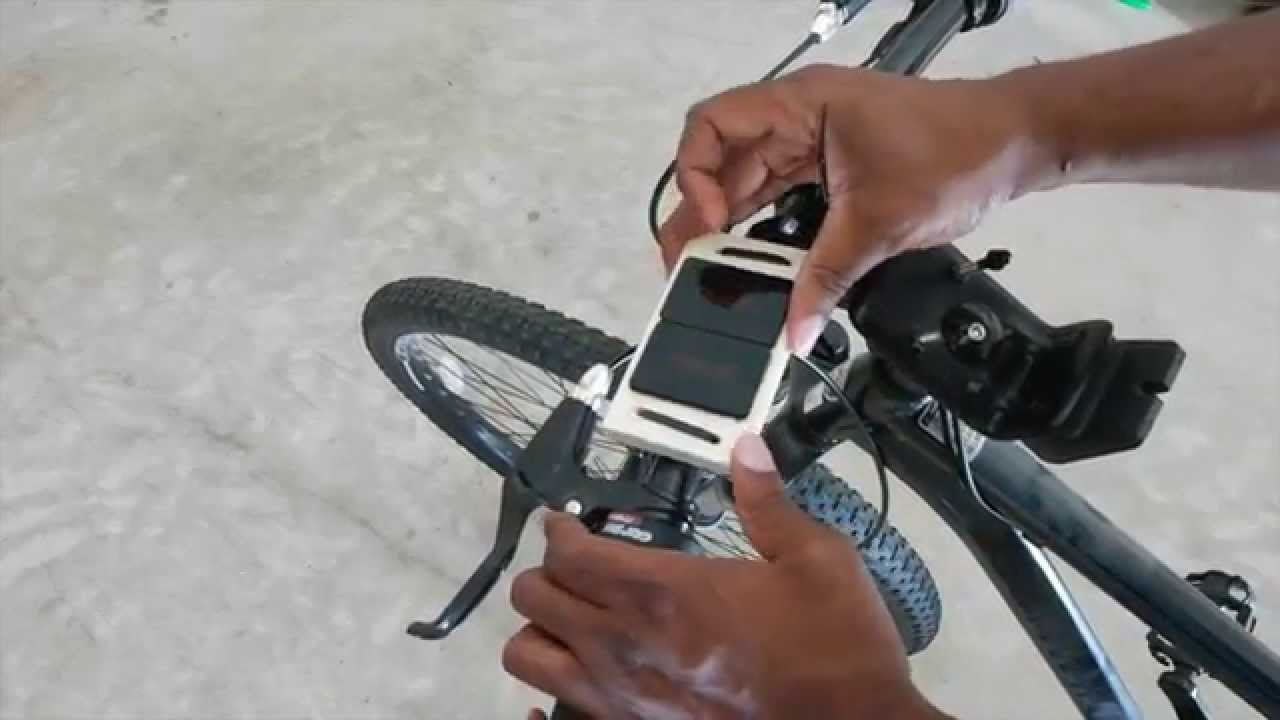 DIY universal iphone 6 6plus smartphone bicycle mount - YouTube
