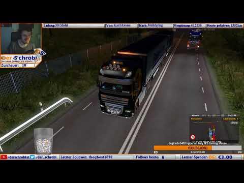Crash in Schweden. LKW auf stabilen Zaun