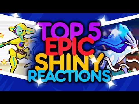 Top 5 EPIC Shiny Pokemon Reactions! w/ JCB_ - Year of 2016!