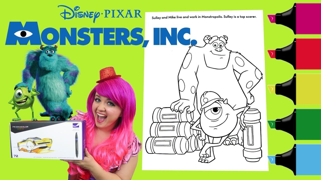 - Coloring Monsters, Inc. Sulley & Mike Coloring Book Colored
