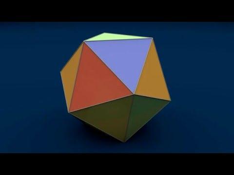 Net of 3D Solid Shapes / Развертки многогранников - Icosahedron / Ікосаедр / Икосаэдр