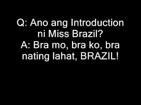 Funny miss gay questions
