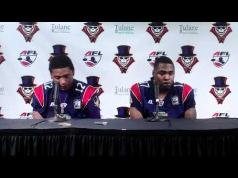 Skyler Green and Alvin Jackson postgame press confrence versus Jacksonville Sharks