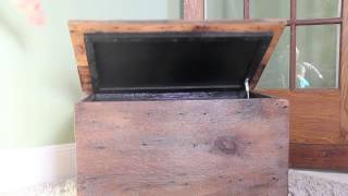 Soft Close Lid - Reclaimed Wood Bench