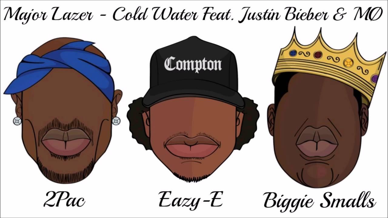 Eazy E Cartoon: Cold Water Ft. Justin Bieber , MØ , 2Pac