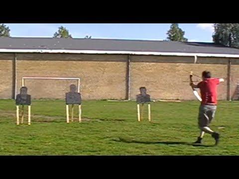 Saracen Archery: 3 arrows in 1 ½ seconds.