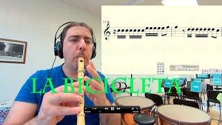 La Bicicleta Carlos Vives Shakira Pito Galego Cover Flauta Partitura Melodía Notas Gratis Midi