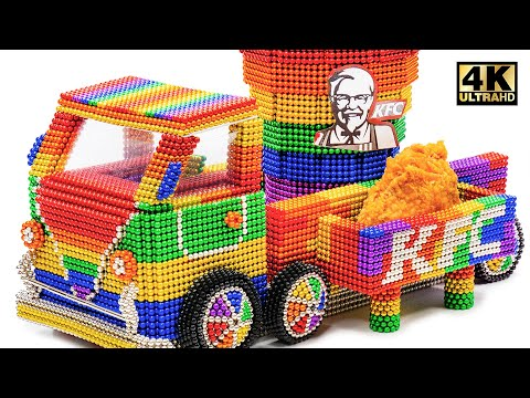 DIY - How To Make KFC Truck Car From Magnetic Balls (Satisfying) | Magnet World Series