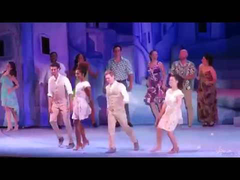 Mamma Mia at Hollywood Bowl Night 1 Curtain Call - Dove Cameron, Jennifer Nettles, Jaime Camil