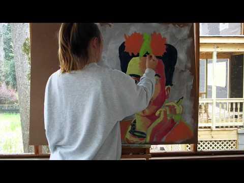 Frida Kahlo Painting Timelapse