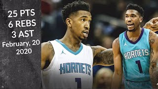 Malik Monk 25 PTS 6 REBS 3 AST   Hornets Vs Bulls   Quick Highlights 2/20/2020