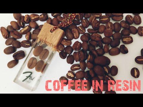 Cara membuat gantungan kunci dari resin, katalis + kopi(coffee in resin)