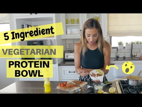 This Protein Bowl is only 5 INGREDIENTS + VEGETARIAN!!