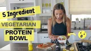 This Protein Bowl is only 5 INGREDIENTS + VEGETARIAN !!