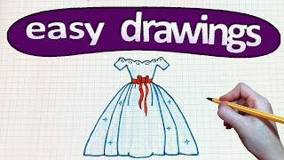 Easy drawings #208  How to draw a Princess