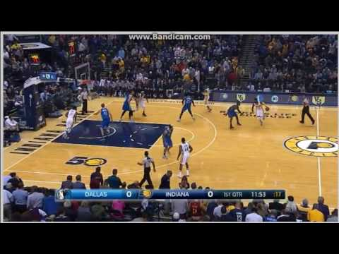 Myles Turner nice dunk - Indiana Pacers vs. Dallas Mavericks - NBA 26/10/2016