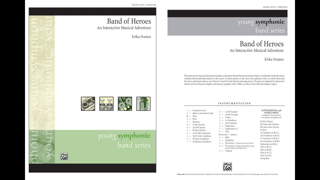 Band of Heroes, by Erika Svanoe – Score & Sound