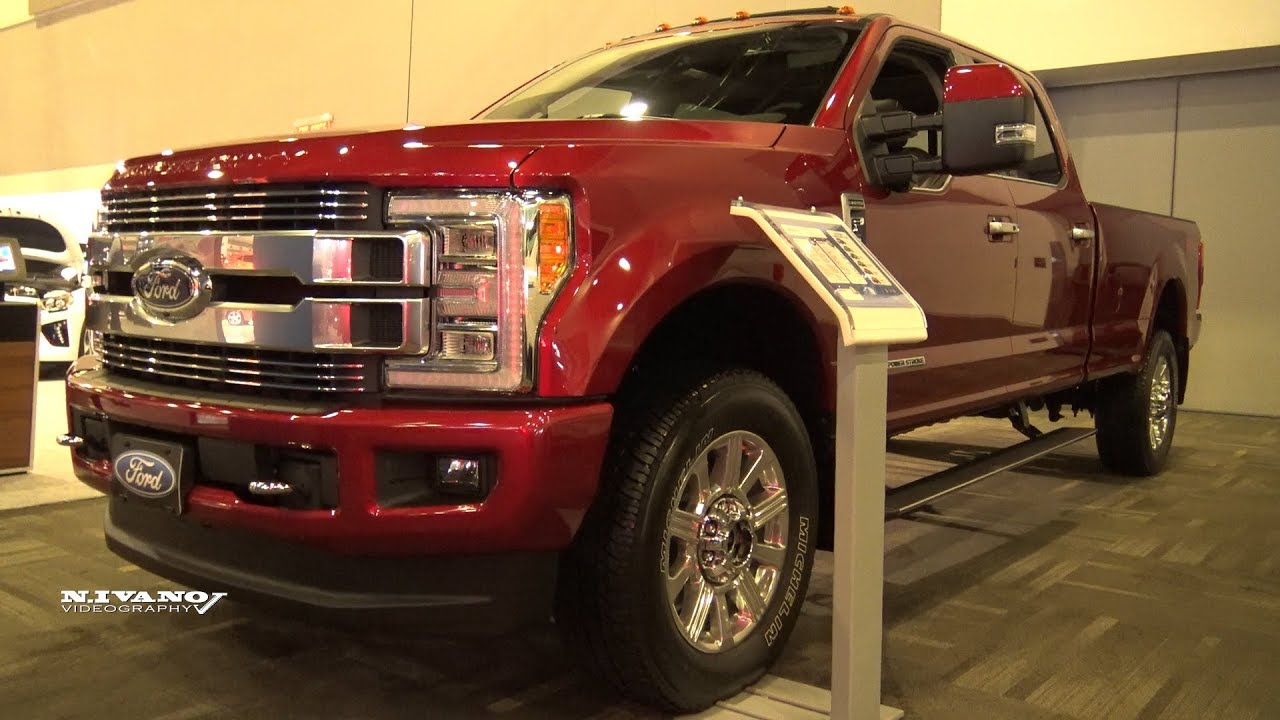 2018 ford f 350 limited super duty exterior and interior walkaround 2018 ottawa auto show. Black Bedroom Furniture Sets. Home Design Ideas