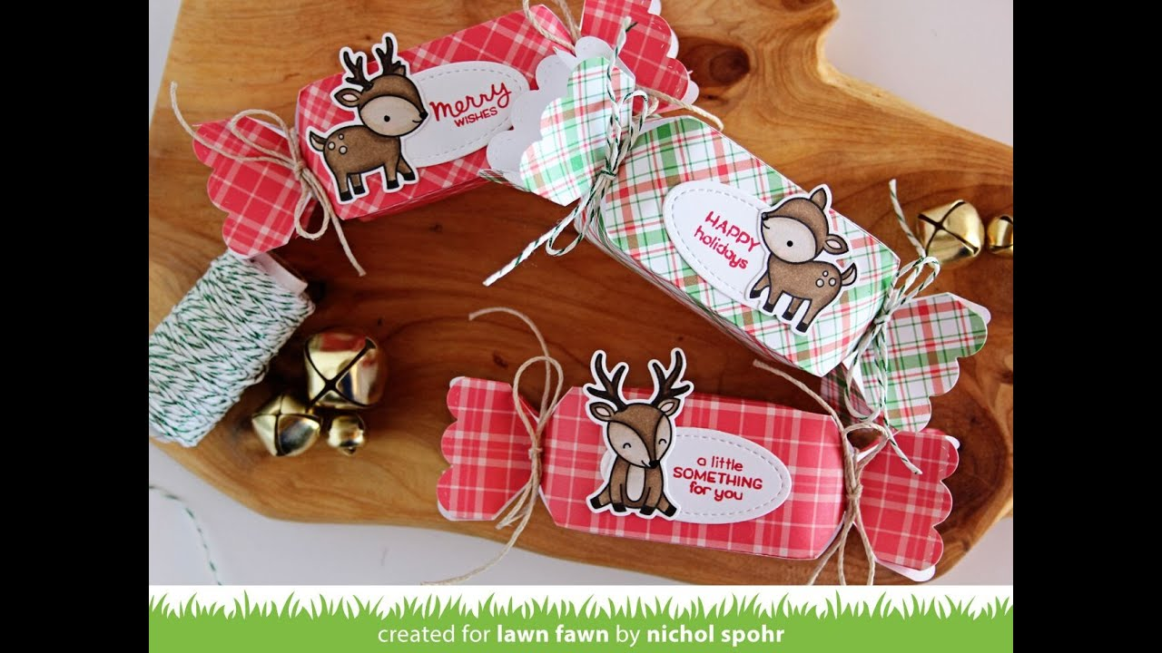 lawn fawn perfectly plaid christmas candy boxes youtube - Christmas Candy Boxes