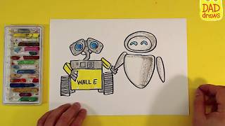How to draw Wall-e and Eve