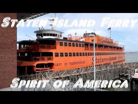 Roundtrip ride on the Staten Island Ferry Spirit of America (boat in Spiderman Homecoming movie)