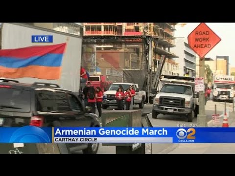 Thousands Turn Out In Hollywood To Mark 102nd Anniversary Of The Armenian Genocide