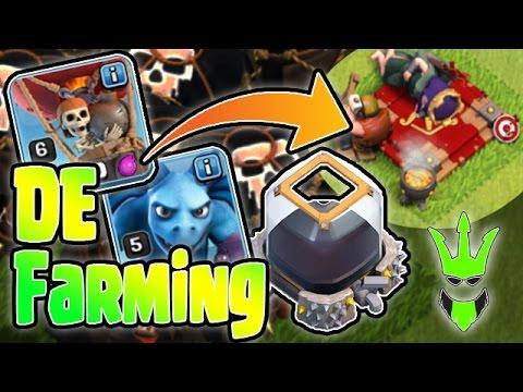 1 HOUR FOR 30K DE - FARMING HEROES!! - TH9 DE Farming - Clash of Clans