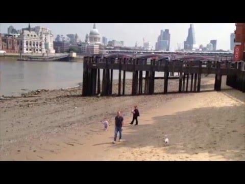 London Thames Beach Bankside Sunshine 2014