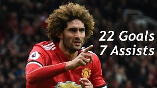 Marouane Fellaini / 22 Goals and 7 Assists for Manchester United
