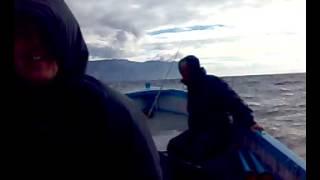 Балаклава. Январь. Возвращение с рыбалки в шторм
