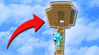 SKYBASE TRAP! (Minecraft Skywars Trolling)