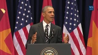 President Obama Delivers Remarks at the National Convention Center thumbnail