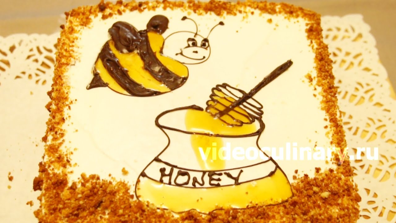 Видео про торт медовик