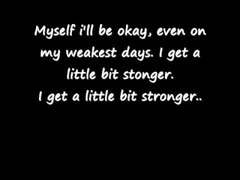 SARA EVANS - A LITTLE BIT STRONGER LYRICS