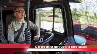 Highway Patrol using semi trucks to hunt down people who text and drive