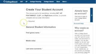 Creating a College Board Account Tutorial