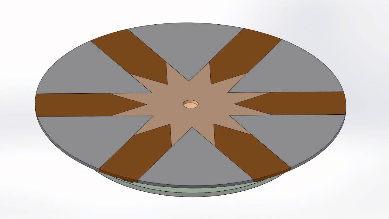 SolidWorks Animation   Extending Round Table (Fletcher)
