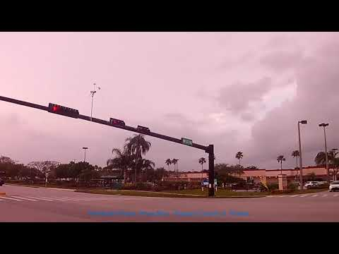 Pembroke Pines, Pines Blvd South Florida. Driving along Pine